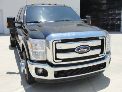 T-Rex - Ford Superduty T-Rex Billet Grille Overlay - Bolt On - All Black - Powdercoat - 4PC - 21546B