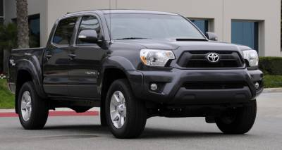T-Rex - Toyota Tacoma T-Rex Billet Grille Overlay - Bolt On - All Black - 2PC - 21938B