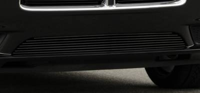 T-Rex - Dodge Charger T-Rex Bumper Billet Grille - All Black - 25442B