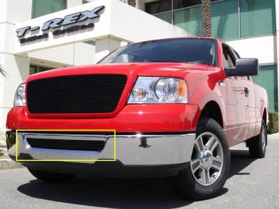 T-Rex - Ford F150 T-Rex Bumper Billet Grille Insert - All Black - 25555B