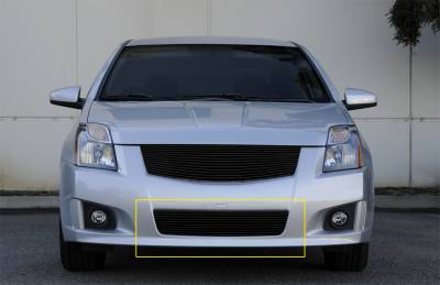 T-Rex - Nissan Sentra T-Rex Bumper Billet Grille Insert - All Black - 25764B