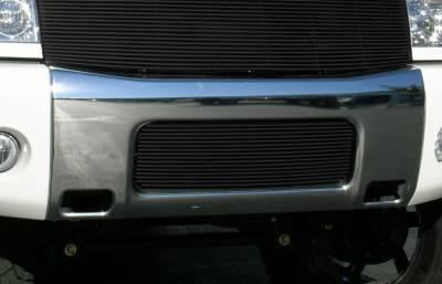 T-Rex - Nissan Titan T-Rex Bumper Billet Grille Insert - 16 Bars - All Black - 25780B