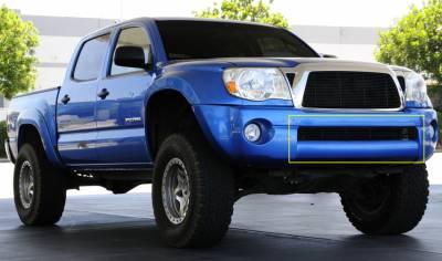 T-Rex - Toyota Tacoma T-Rex Bumper Billet Grille Insert - 6 Bars - All Black - 25895B