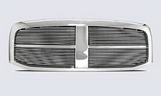 Street Scene - Dodge Ram Street Scene Chrome Grille Shell with 4mm Polished Billet Grille - 950-75522