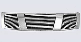 Street Scene - Nissan Titan Street Scene Chrome Grille Shell with 4mm Polished Billet Grille - 950-75526