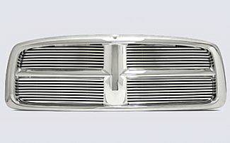 Street Scene - Dodge Ram Street Scene Chrome Grille Shell with 8mm Billet Grille Insert - 950-75530