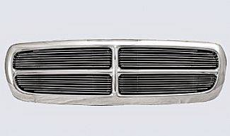 Street Scene - Dodge Durango Street Scene Chrome Grille Shell with 4mm Polished Billet Grille - 950-75534