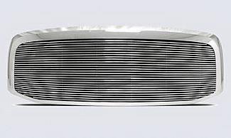 Street Scene - Dodge Ram Street Scene Custom Chrome Grille Shell with 4mm Polished Billet - 950-75535
