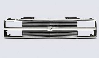 Street Scene - Chevrolet Tahoe Street Scene Chrome Grille Shell with 4mm Billet Grille - 950-75537