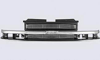 Street Scene - Chevrolet S10 Street Scene Chrome & Black Shell with 4mm Polished Billet Grille - 950-75541