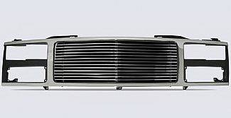 Street Scene - GMC Yukon Street Scene Chrome Grille Shell with 4mm Polished Billet Grille - 950-75543