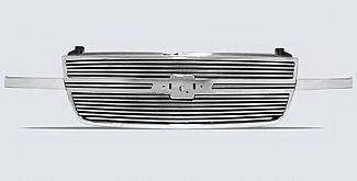 Street Scene - Chevrolet Silverado Street Scene Chrome Grille Shell with 8mm Polished Billet Grille - 950-75555