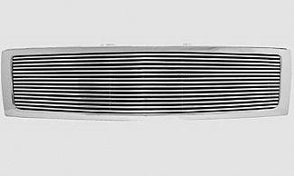 Street Scene - Chevrolet Silverado Street Scene Custom Chrome Grille Shell with 8mm Billet Insert - 950-75558