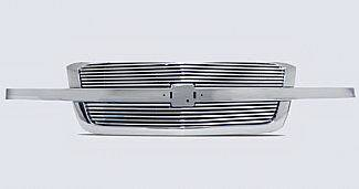 Street Scene - Chevrolet Silverado Street Scene Chrome Grille Shell with 8mm Polished Billet Grille - 950-75559