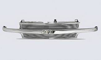 Street Scene - Chevrolet Tahoe Street Scene Chrome Grille Shell with 8mm Polished Billet Insert - 950-75562