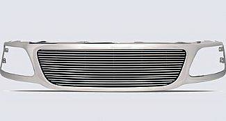 Street Scene - Ford F150 Street Scene Chrome Steel Grille Shell with Billet Grille - 950-75571