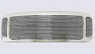 Street Scene - Ford Superduty Street Scene Chrome Grille Shell with 8mm Polished Billet Grille - 950-75578