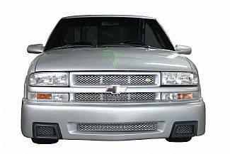Street Scene - Chevrolet S10 Street Scene Black Chrome Grille for Generation 4 Bumper Cover - 950-76149