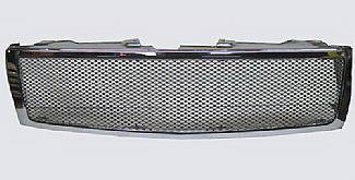 Street Scene - Chevrolet Silverado Street Scene Custom Chrome Grille Shell with Black Chrome Grille - 950-76557