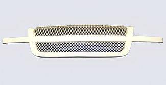 Street Scene - Chevrolet Silverado Street Scene Paintable Custom Grille Shell with Satin Aluminum Grille - 950-77555
