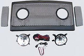 Street Scene - Ford Superduty Street Scene Grille Shell Surround with Light Kit - Satin Aluminum - 950-77582