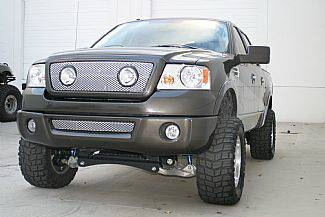 Street Scene - Ford F150 Street Scene Grille Shell Surround with Light Kit - Satin Aluminum - 950-77585
