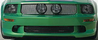 Street Scene - Ford Mustang Street Scene Center Mount light Shell Satin Aluminum Grille - 950-77592
