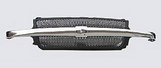 Street Scene - Chevrolet Silverado Street Scene Chrome & Black Grille Shell with Chrome Speed Grille - 950-78456