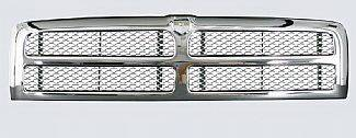 Street Scene - Dodge Ram Street Scene Chrome Grille Shell with Chrome Speed Grille - 950-78516