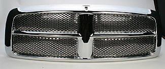 Street Scene - Dodge Ram Street Scene Chrome Grille Shell with Chrome Speed Grille - 950-78531