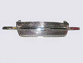 Street Scene - Chevrolet Silverado Street Scene Chrome Grille Shell with Chrome Speed Grille - 950-78554