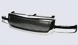 Street Scene - GMC Sierra Street Scene Chrome Grille Shell with Chrome Speed Grille - 950-78567