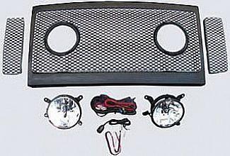 Street Scene - Ford Superduty Street Scene Grille Shell Surround with Light Kit - Chrome - 950-78582