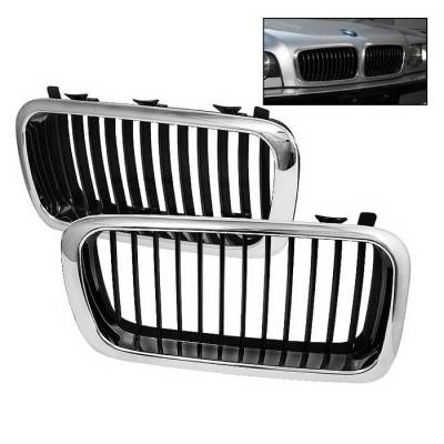 Spyder Auto - BMW 7 Series Spyder Front Grille - Chrome - GRI-CH-BE3895-C