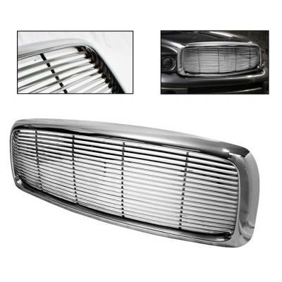 Spyder - Dodge Ram Spyder Front Grille - Chrome - GRI-SP-DR02-C