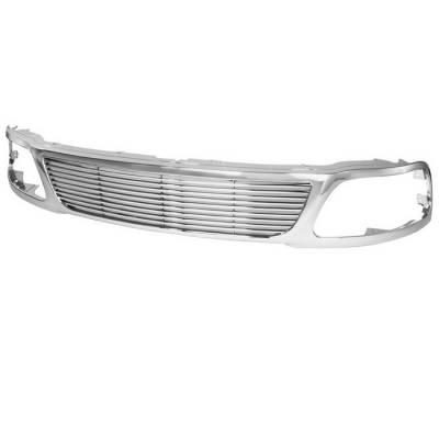 Spyder - Ford F150 Spyder Front Grille - Chrome - GRI-SP-FF15097-C