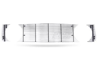 Stack Racing - Ford Mustang Stack Racing Billet Upper Grille - GRL-05-GT-NPC