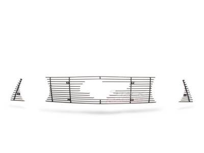 Stack Racing - Ford Mustang Stack Racing Billet Grille - GRL-10-GT-UPC-BLK