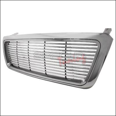 Spec-D - Ford F150 Spec-D Billet Grille - Chrome - 1PC - HBG-F150041PCC-GG