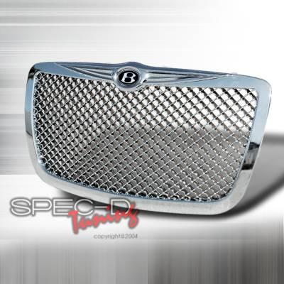 Spec-D - Chrysler 300 Spec-D Mesh Grille - Chrome - HG-300C05C