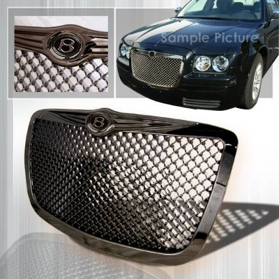 Spec-D - Chrysler 300 Spec-D Mesh Grille - Gunmetal - HG-300C05G