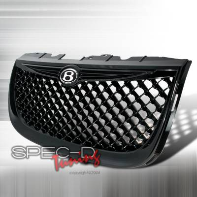 Spec-D - Chrysler 300 Spec-D Mesh Grille - Black - HG-300M99JM