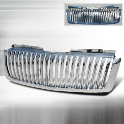 Spec-D - Chevrolet Avalanche Spec-D Vertical Grille - Chrome - HG-AVA07CVT