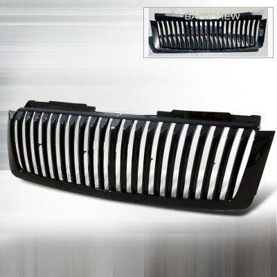 Spec-D - Chevrolet Avalanche Spec-D Vertical Grille - Black - HG-AVA07JMVT