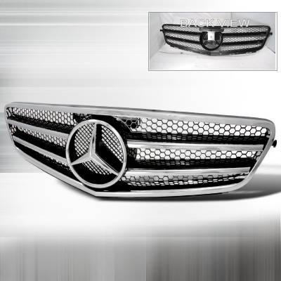 Spec-D - Mercedes-Benz C Class Spec-D CL Style Grille - Black - HG-BW20407JMCL