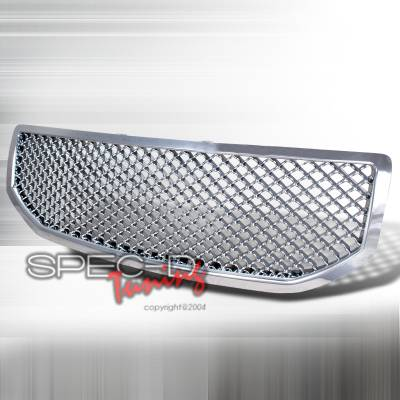 Spec-D - Dodge Caliber Spec-D Mesh Grille - Chrome - HG-CAL06C