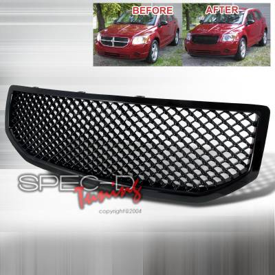 Spec-D - Dodge Caliber Spec-D Mesh Grille Black - HG-CAL06JM