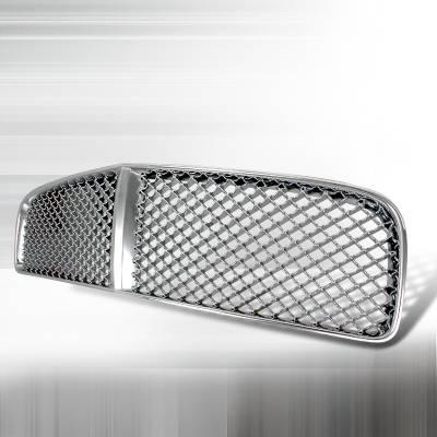 Spec-D - Dodge Charger Spec-D Mesh Grille - Chrome - HG-CHG05C