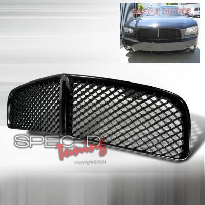 Spec-D - Dodge Charger Spec-D Mesh Grille - Black - HG-CHG05JM