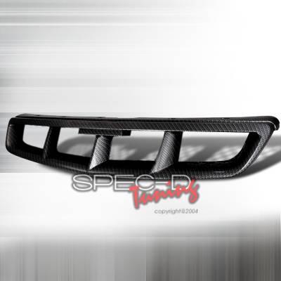Spec-D - Honda Civic Spec-D Mugen Style Front Hood Grille - HG-CV99CFMU
